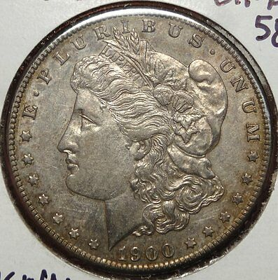 1900-S Morgan Dollar, Choice Almost Uncirculated Slider, Very Scarce!!   0913-34