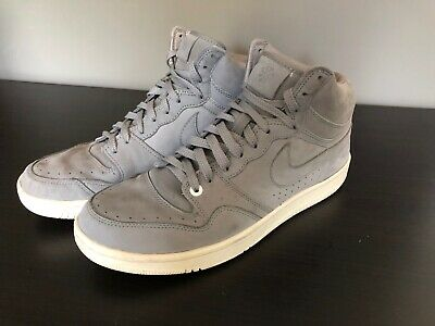 huge selection of 95d69 49ca6 Nike Court Force High Lux Suede Edition Basketball Shoes Grey Rare Mens  Size 12