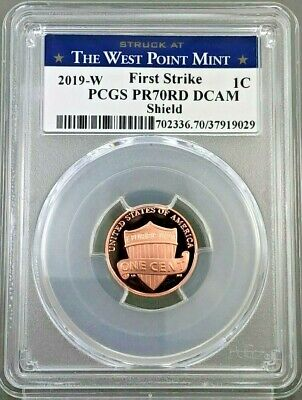 2019 W PROOF LINCOLN CENT WEST POINT LABEL PCGS PR70DCAM ~ First Strike LIVE !