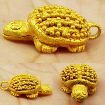 4.68 grams Ancient High karat Solid Gold Turtle Lucky Amulet     #10M