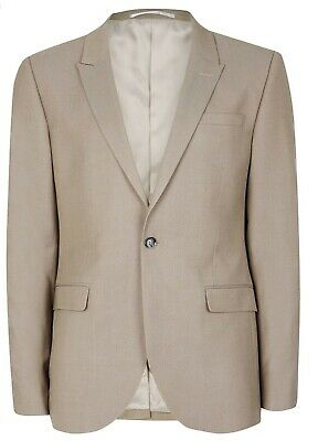TOPMAN Skinny Fit Light Taupe Sport Blazer Suit Jacket Size 36R - ChocEwe