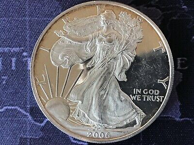 2006 Proof American Silver Eagle 1 Troy oz. Fine Bullion USA .999