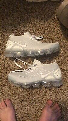 NIKE AIR VAPORMAX 2018 Flyknit2 Men's Running Trainers Shoes Pure Platinum White