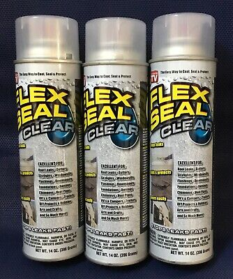 Spray Rubber Seal >> 3 Pk Flex Seal Spray Clear Liquid Rubber Sealant Coating Stop Leak Wet Dry 14oz