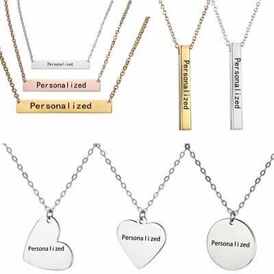 Stainless Steel Custom Personalized Name Letters Pendant Necklace Jewelry DIY