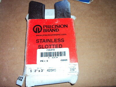 precision brand 42360 Shim,Slotted, 3″ x 3″ x 0.100″ Stainless Steel pk/5