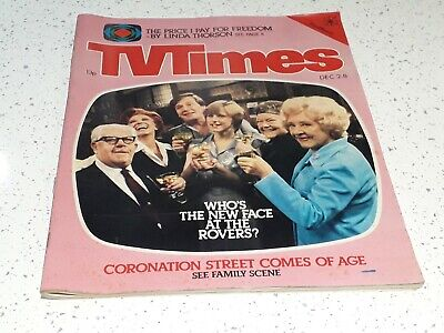 TV Times December 2-8 1978 Southern edition Coronation Street