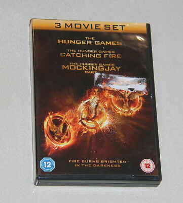3 in 1 DVD set - The Hunger Games, Catching Fire & Mockingjay Part 1