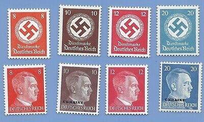 Nazi Germany Third Reich Nazi Swastika Hitler Stamp lot MNH WW2 Era #7