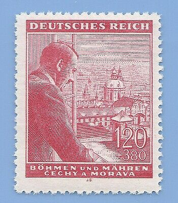 Nazi Germany Third Reich Nazi B&M Hitler 120+380 stamp MNH WW2 ERA #7
