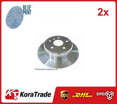 2x ADT34374 BLUE PRINT REAR OE QUALITY BRAKE DISC SET