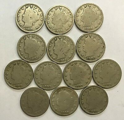 """13 - Different Liberty """"v"""" Nickels Lot ***** L@@k At Pictures!!!!!   #507"""