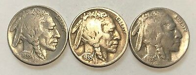 1935-P/d/s   Buffalo Nickels  ***nice High Grade Coins***     #2128