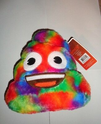 Smiling Rainbow Emoji Poop Plush Toy Bank Brand new