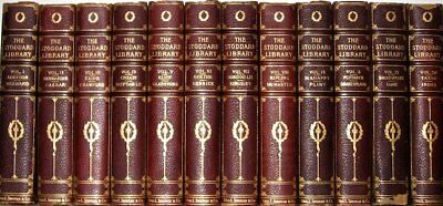 LEATHER Set; ENCYCLOPEDIA LIBRARY!stoddard • COMPLETE! Travel britannica lecture