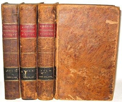 Leather set;ANCIENT HISTORY!Church Jesus Bible God • FIRST 1st 1821!Jew religion