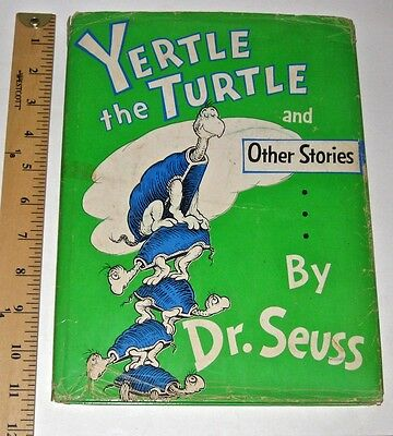 DR. SEUSS YERTLE THE TURTLE Cat In Hat 295 FIRST EDITION Children's GIFT 1st DJ