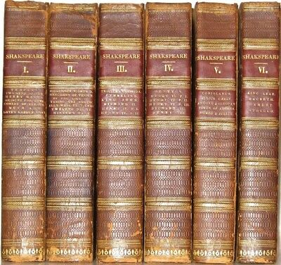 LEATHER Set;WILLIAM SHAKESPEARE'S WORKS! PRINTED 1786! First Edition Oxford RARE