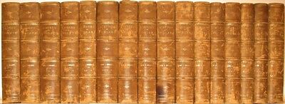 Leather Set;HISTORY OF ENGLAND! DAVID HUME • 1818 • HUGE BOOKS! Library Smollett