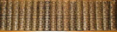 LEATHER Antique Library Set; BALZAC'S WORKS! • COMPLETE• Leatherbound Rare 1/750