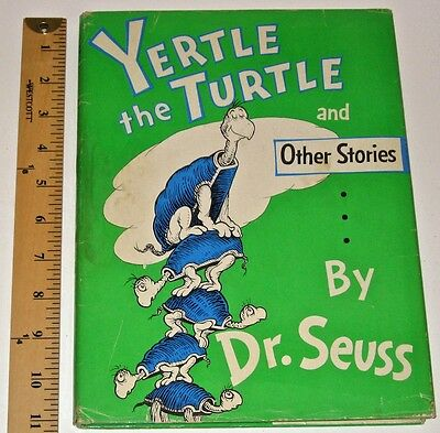 DR SEUSS • YERTLE THE TURTLE Cat In Hat 295 • FIRST EDITION Children GIFT 1st DJ