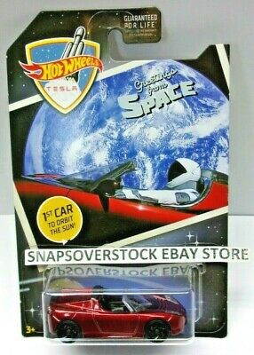 2019 Hot Wheels Red 2008 Tesla Roadster Greetings From Space, Limited Edition