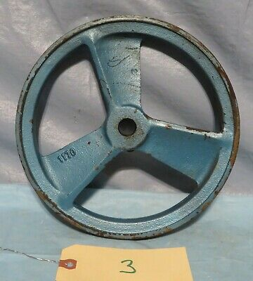 Vintage Industrial Machine Age Cast Fly Wheel Pulley Steampunk Art Lamp Part