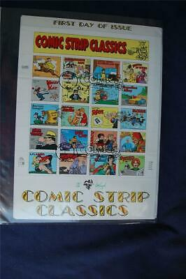 Comic Strip Classics 32c Stamps Full Sheet FDC Handpainted by Pugh Sc#3000a-t