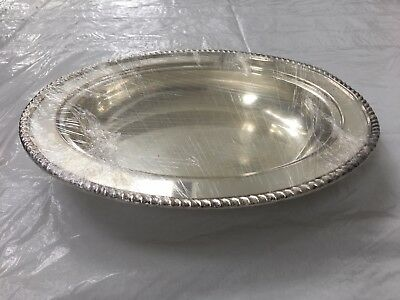 Silver Plate on Copper Oval Serving Dish