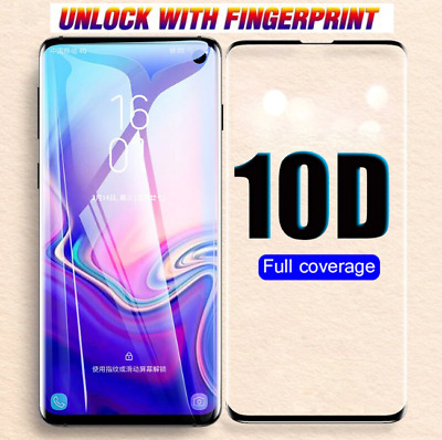 For Samsung Galaxy S10PLUS S10 S10e Screen Protector Curved Fit Hydrogel Film HD