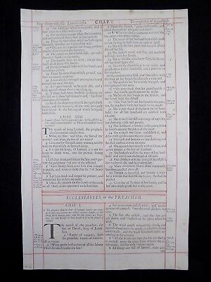 1680 Oxford First Folio King James Bible Leaf Ecclesiastes Title Page-Proverb 31