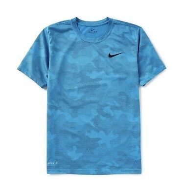 8f7876c2 NIKE MEN'S DRY Legend Blue Camo Training T-Shirt Size L - $16.00 ...