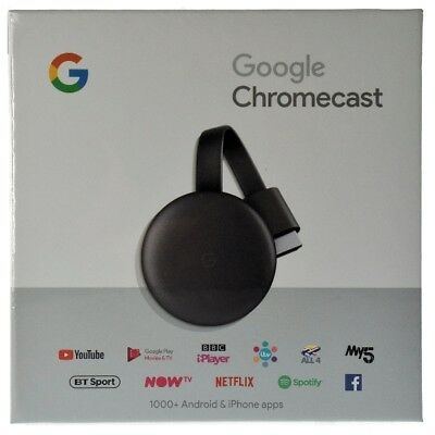 Google Chromecast Video 3 Hdmi Streaming Video Media Player Nuovo Modello 2019