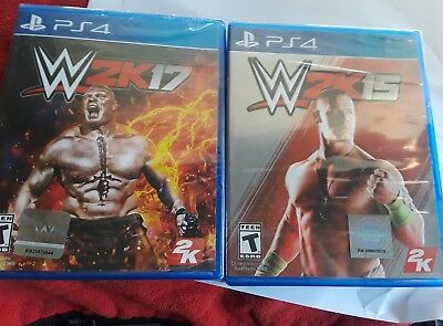 PS4 WWE 2K17 and 2K15 New