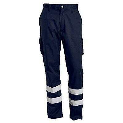Mascot 17979-850-010-90C52 Service Trousers Safety Pants, Black/Blue, 90C52