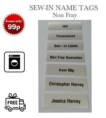 Quality Sew-in Name Tags Airport Luggage Label Tag Suitcase Rucksack Marker