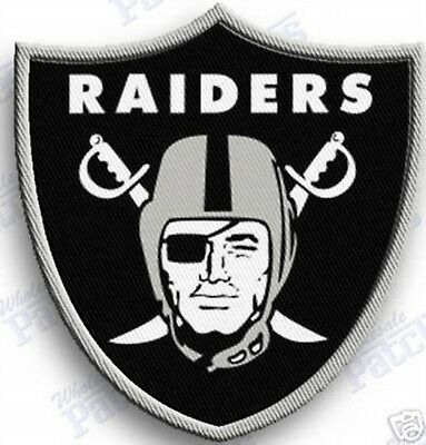 OAKLAND RAIDERS   iron on 100% embroidered PATCH NFL FOOTBALL PATCHES   ...
