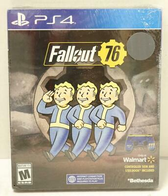 NEW - Fallout 76 Steelbook Edition (Playstation 4, 2018) PS4 Video Game