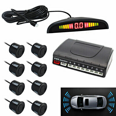 Car Reverse Parking Sensor Front 8 Sensors Backup Radar Audio Buzzer Alarm Kit