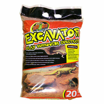 Zoo Med Excavator Clay 9kg Reptile Burrowing Substrate Holds Shape!