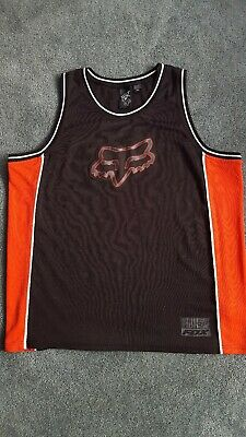 69fa30da84000b Fox Racing Men s Tank Top Jersey Foxhead Logo Sleeveless XXL 2XL Black Red