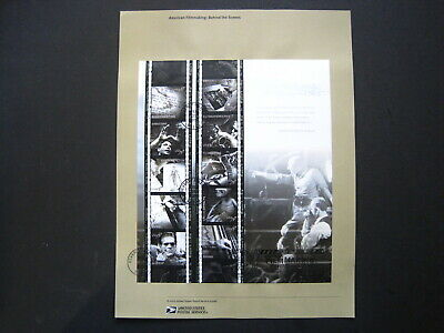 USPS AMERICAN FILM MAKING 2003 Behind the scenes USA Stamp Sheet First Day Issue