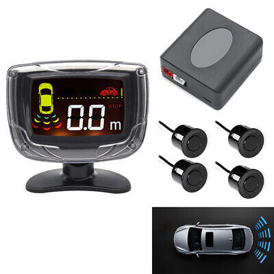 Car LCD Display 4 Parking Sensor Rear View Reverse Backup Front Radar System
