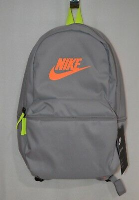 b08d1c114c Nike Heritage Grey Volt Orange Unisex Backpack ( BA5749-028 ) - NWT