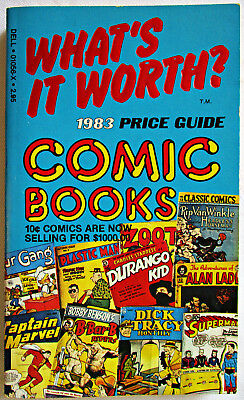 What's It Worth? 1983 Price Guide to Comic Books PB Dell 1st edition vintage