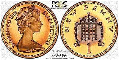 1981 Great Britain One New Penny  PCGS PR67RD DCAM TOP POP ONE GRADED HIGHER