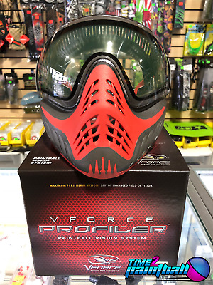 V-Force Profiler Thermal Mask - Scarlet ( Grey / Red ) Paintball Goggles