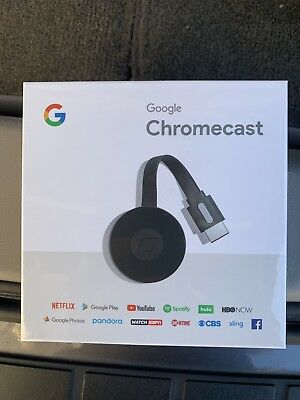 *BRAND NEW FACTORY SEALED* Google Chromecast HD Media Streamer 2nd Generation
