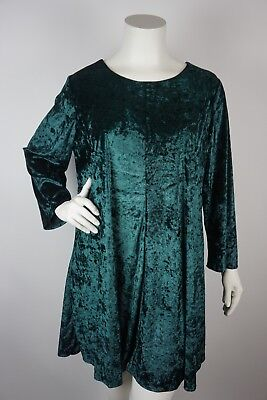 LORD & TAYLOR Context Shift Dress Velvet Green Plus Size 2X ...