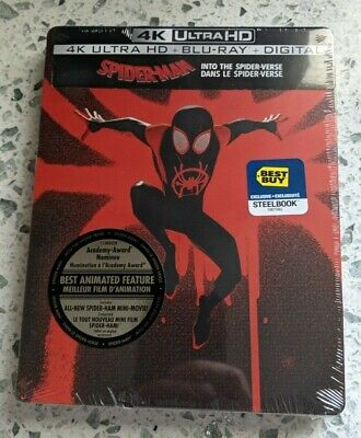 Spider-Man Into the Spider-Verse Best Buy Steelbook (Blu-ray + 4K UHD) BRAND NEW